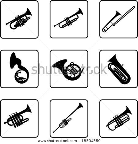 Jazz clipart jazz instrument. Silhouettes clip art musical