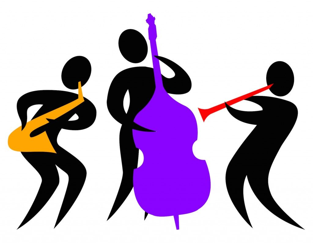 Jazz clipart muscian. Silhouette of player at