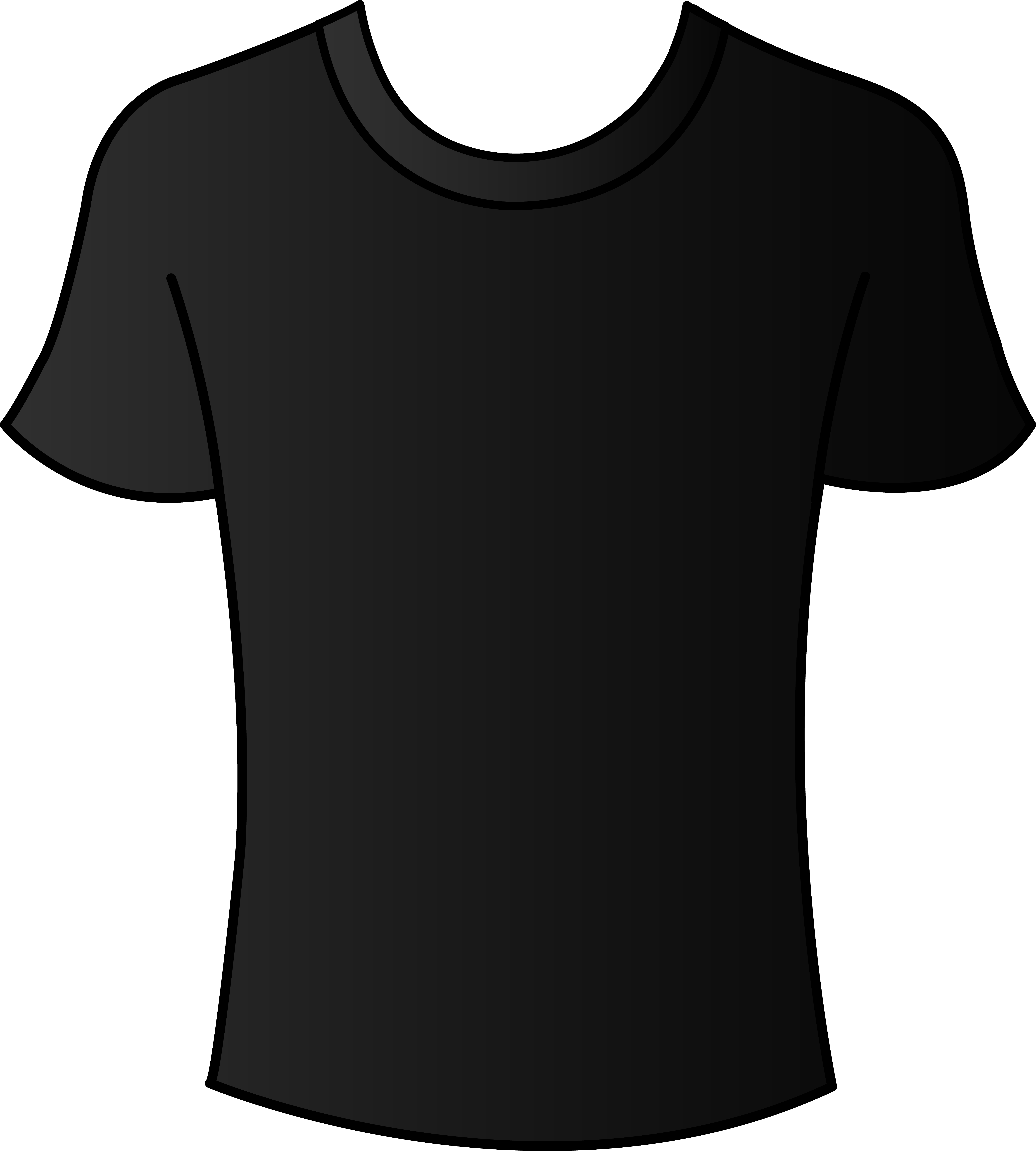tshirt clipart shirt outline