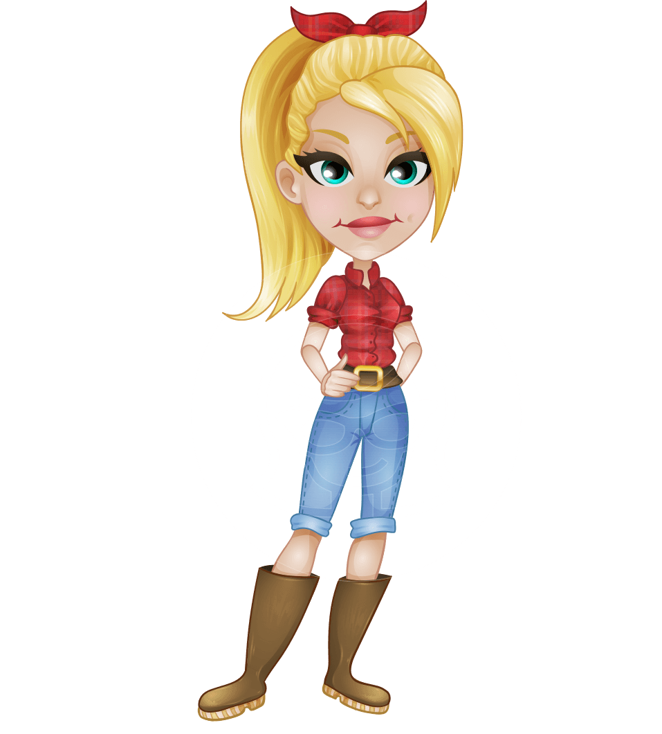 Jeans vector lady. Eva the farm diva
