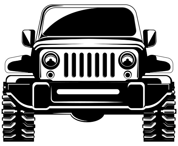 Jeep clipart. Svg x front view