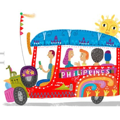 Jeep clipart history philippine. Jeepney art print by