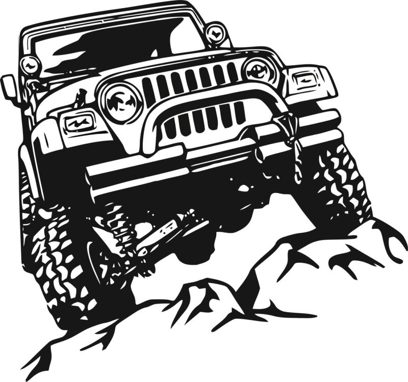 Jeep clipart jeep back. Line drawing at getdrawings