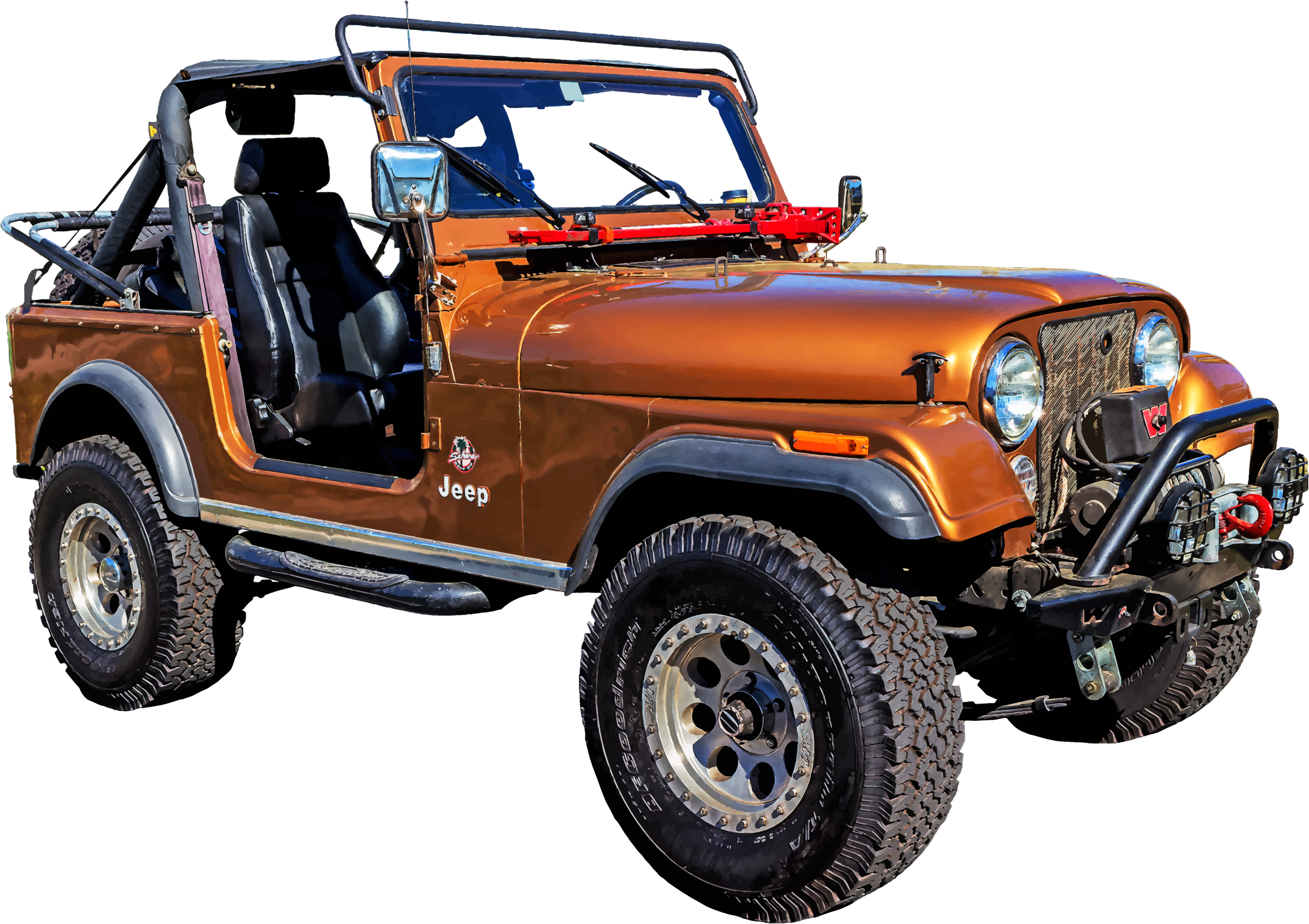 Jeep clipart png. Red big image
