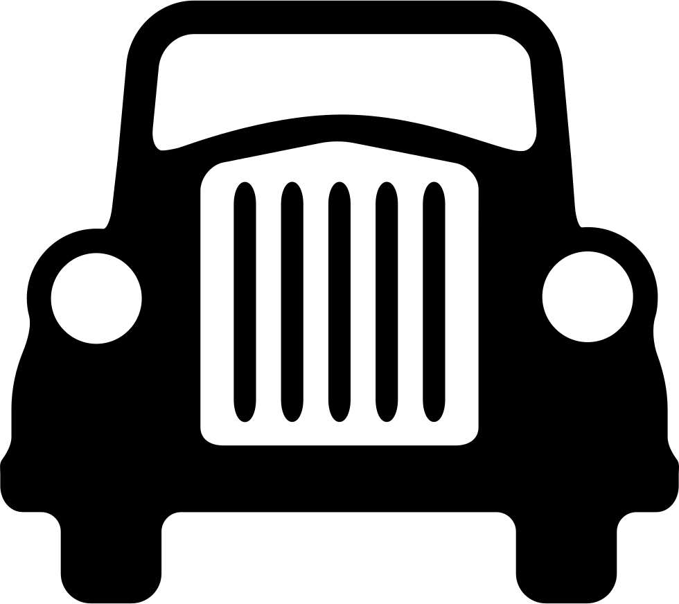 Jeep clipart terminal. Luxury car front view