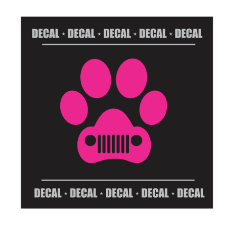 Jeep grill png. Dog paw with decal