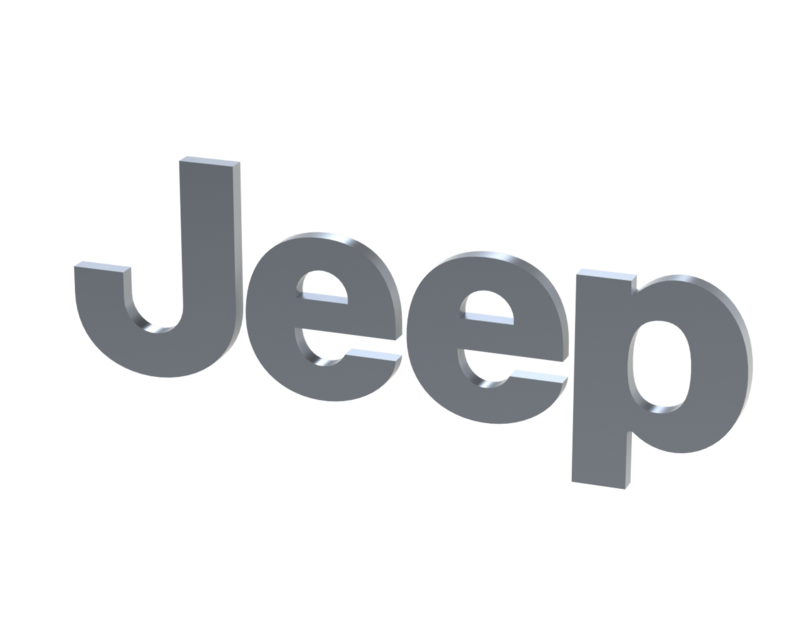 Jeep logo .png. D cad model library