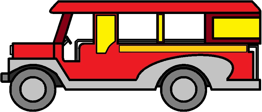 Jeepney drawing. Collection of filipino