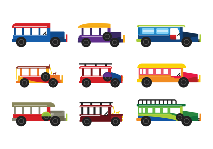 Jeepney drawing animated. Collection of free bussed