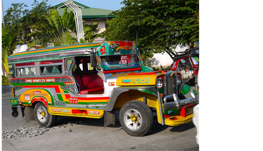 Jeepney drawing paper. Managing the urban environment