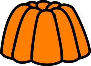 Jelly clipart. Orange clip art at