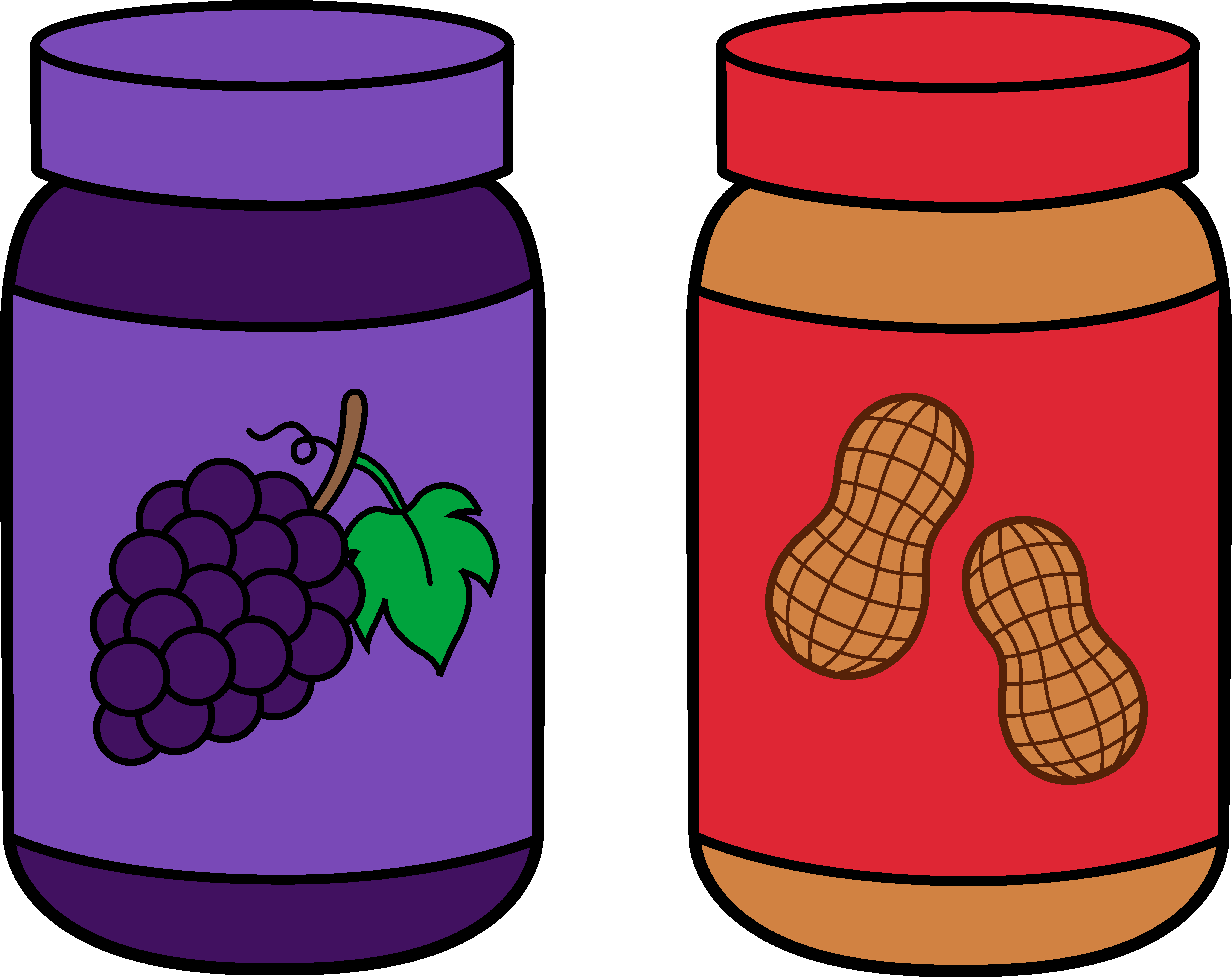 cute peanut butter and jelly png