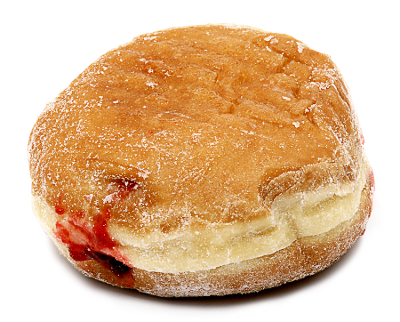 Jelly donut png. Small food desserts snacks
