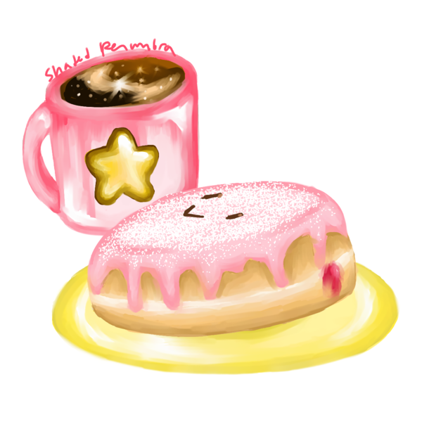 Jelly donut png. Kirby by shadedpenumbra on