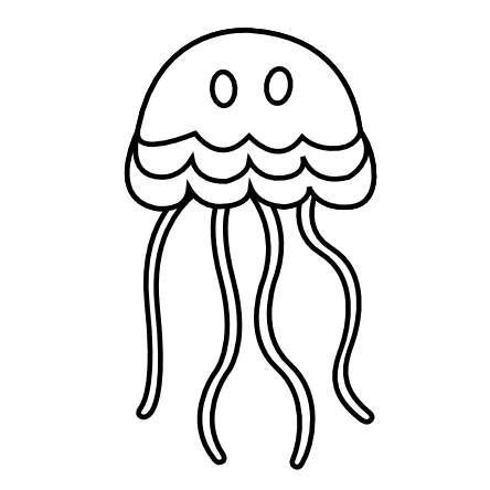 Jelly drawing black and white. Jellyfish pictures imaganationface org