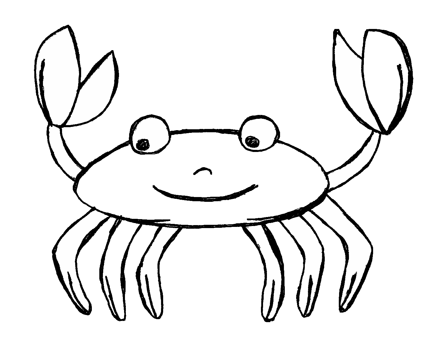 Seafood drawing face. Jelly clip art