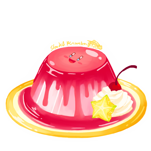 Jelly drawing pudding. Clip art free