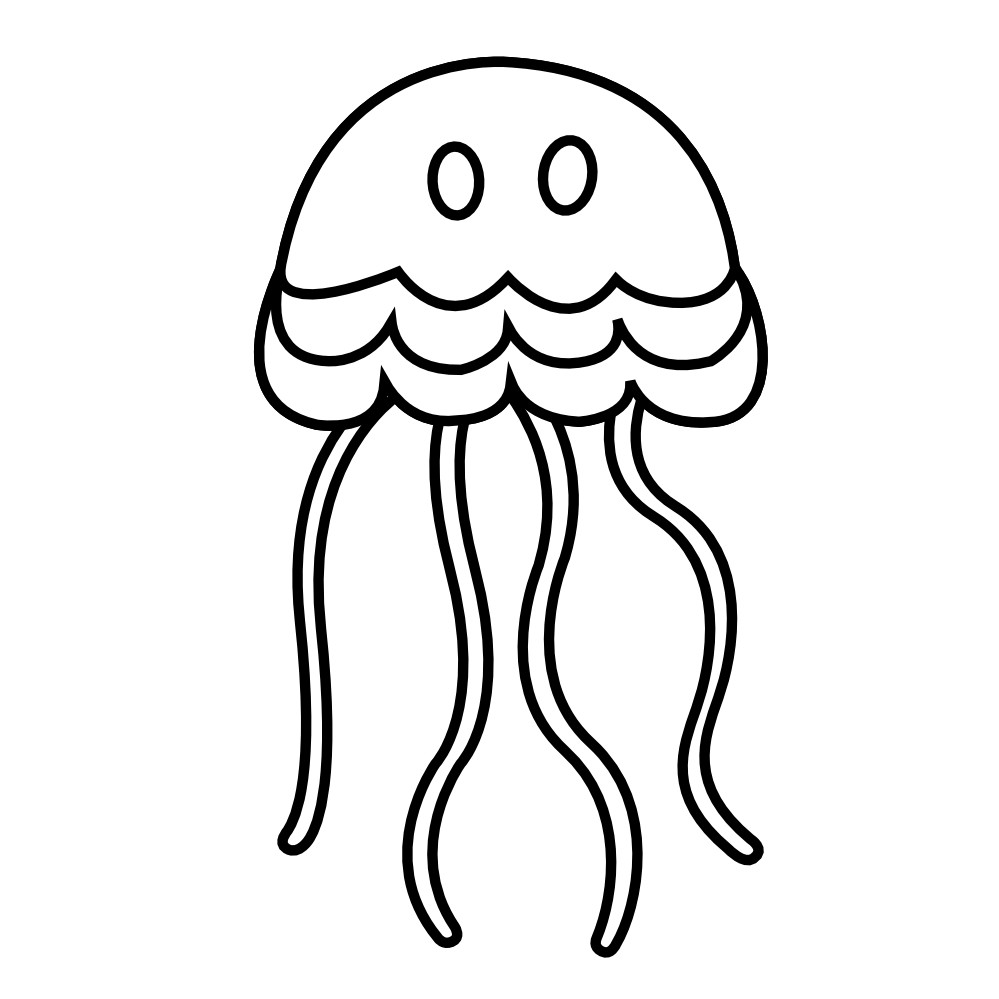 transition drawing jellyfish