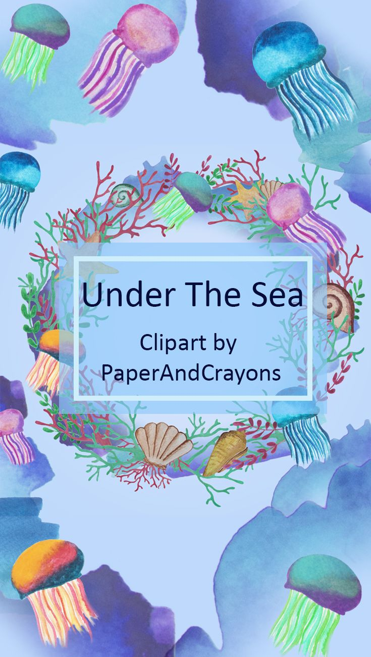 jellyfish clipart blue coral
