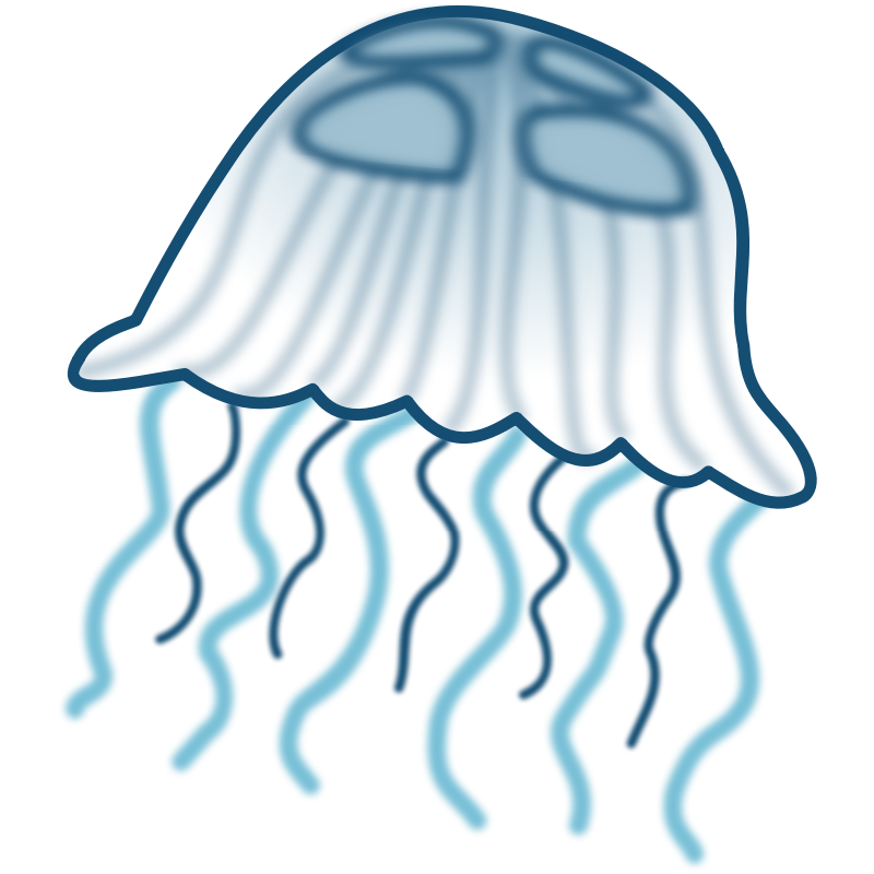 Free cartoon pictures download. 3 clipart jellyfish transparent stock