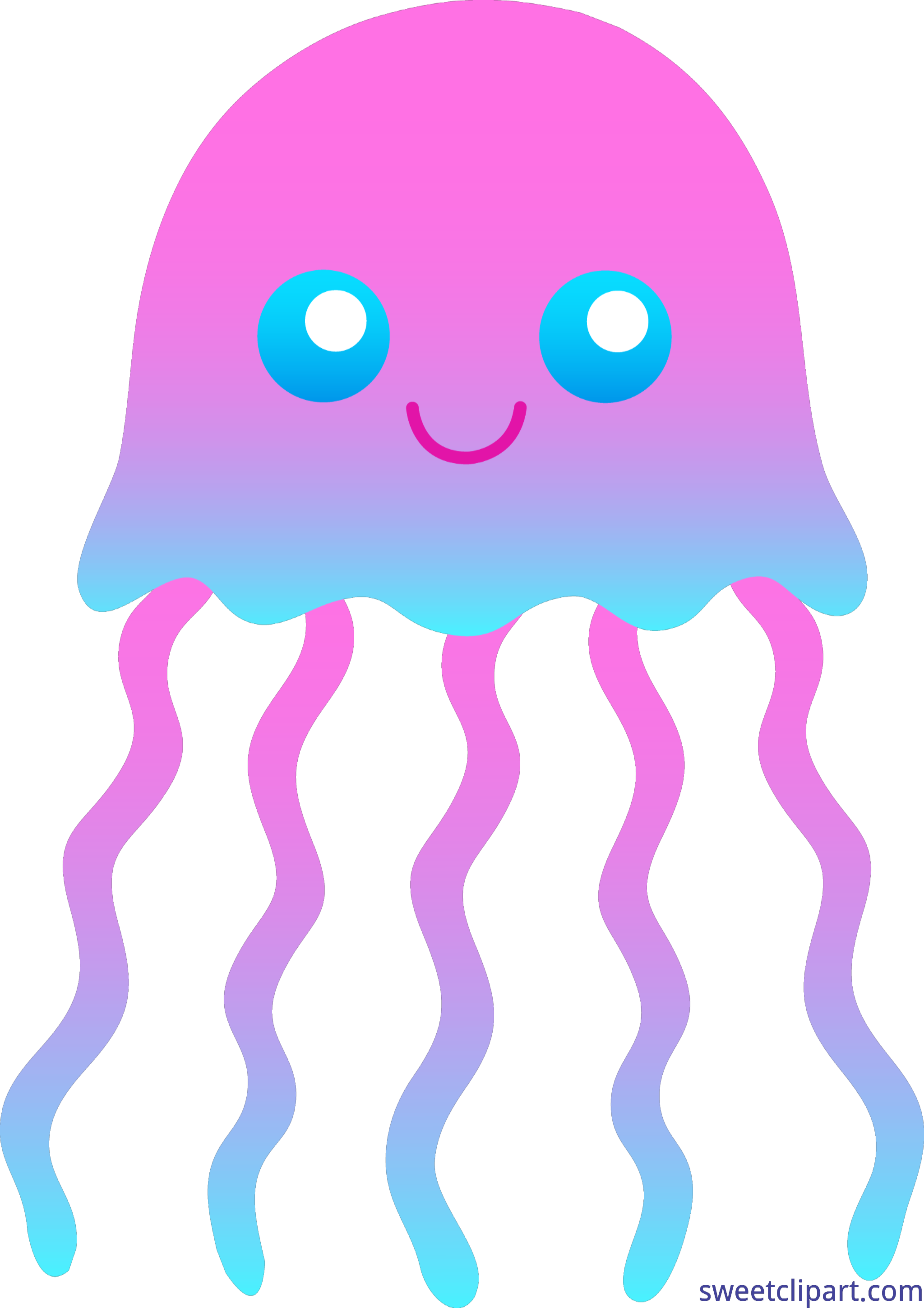 Jellyfish clipart pink jellyfish. And blue clip art