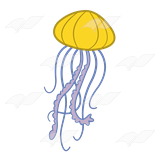 Jellyfish tentacle png. Abeka clip art yellow