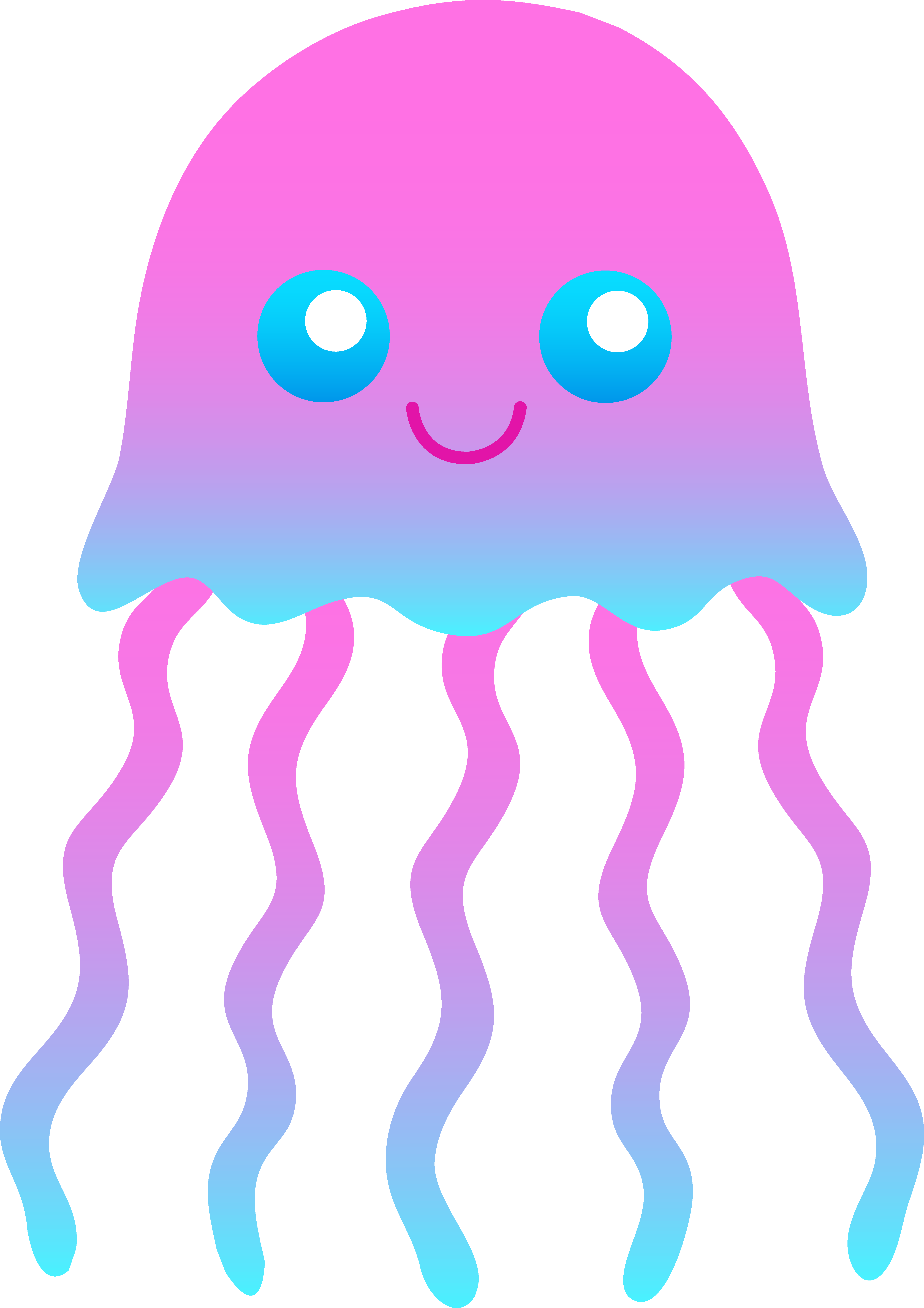 jellyfish svg clear background