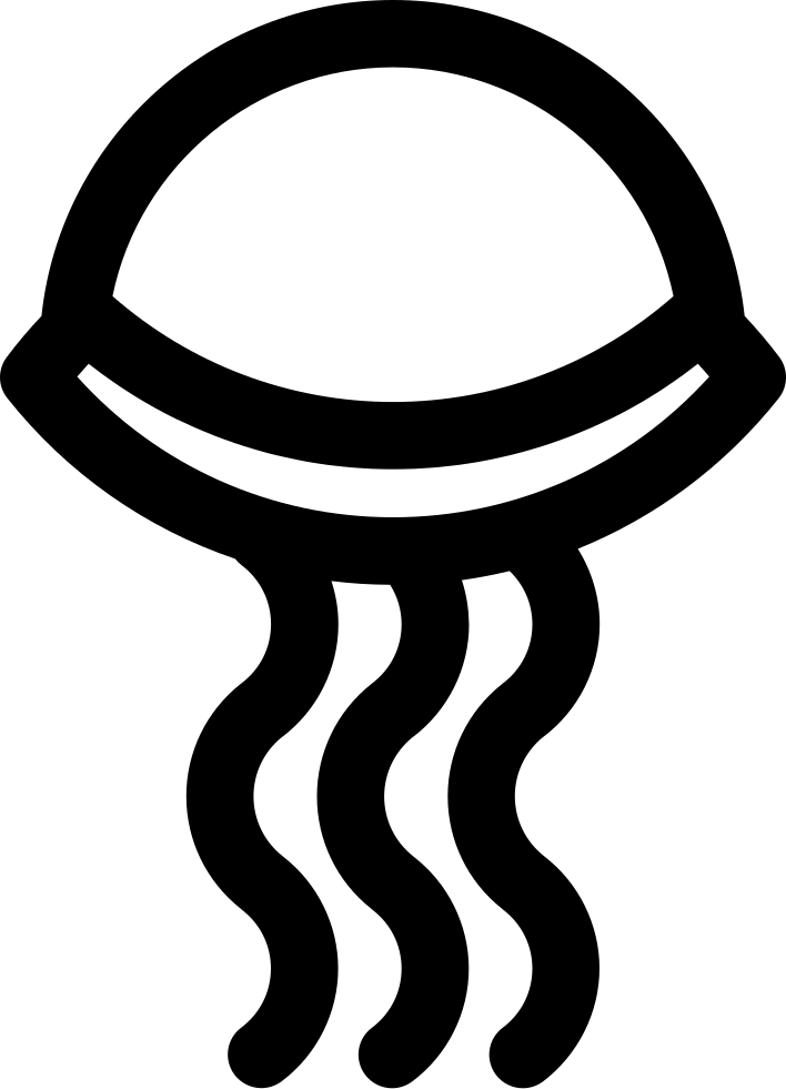 Jellyfish svg file. Png icon free download