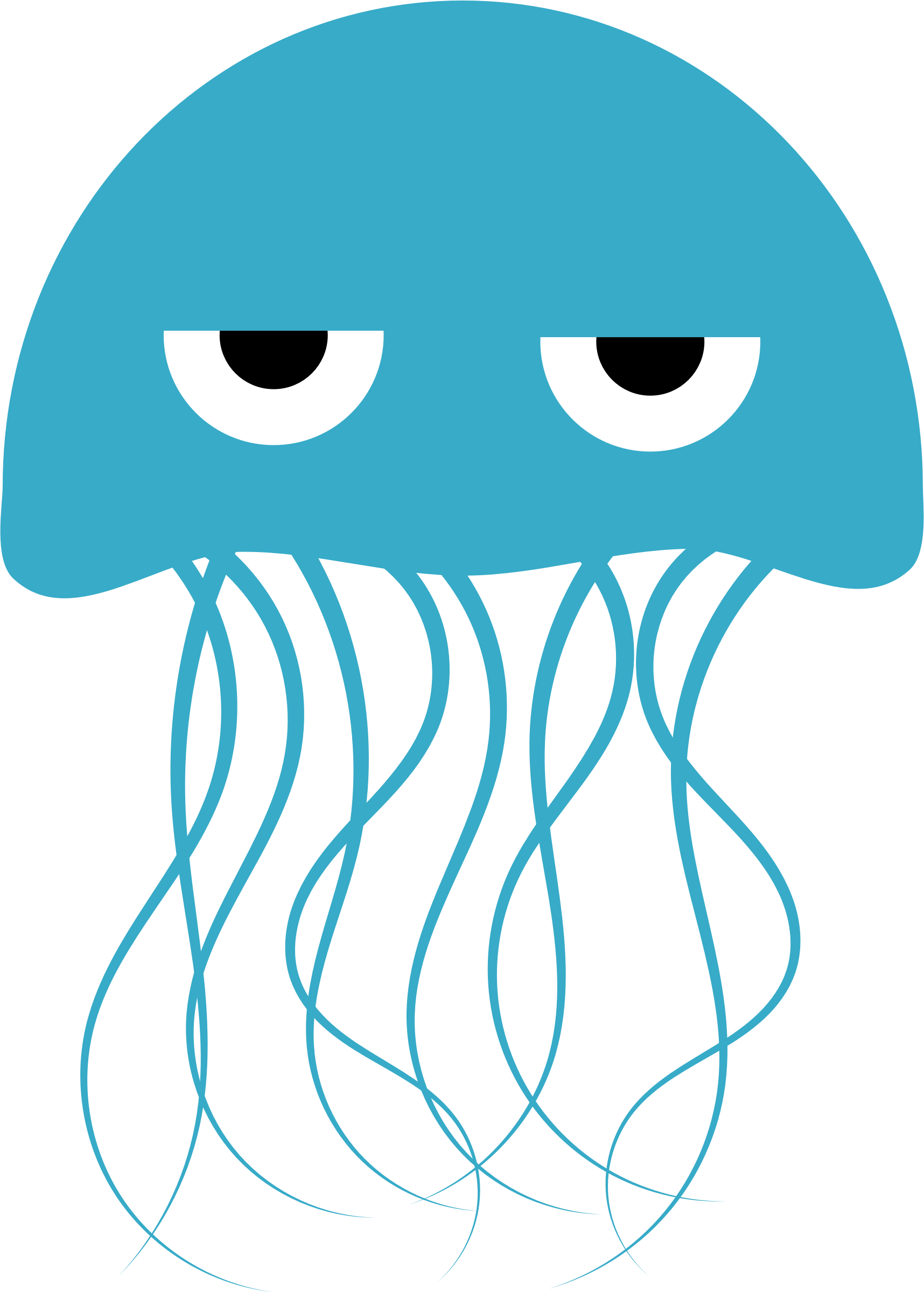 Jellyfish svg clipart black. Jelly fish free download