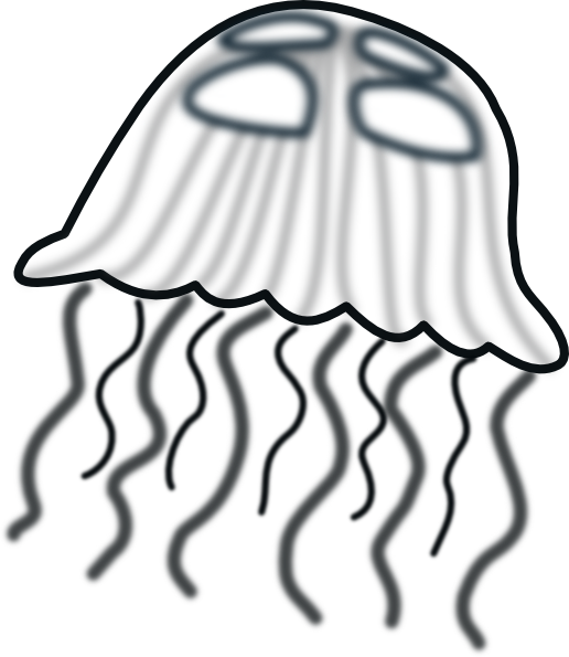 Jellyfish svg clipart black. Banner stock and