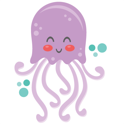 Scrapbook cut cute clipart. Jellyfish svg file graphic royalty free stock