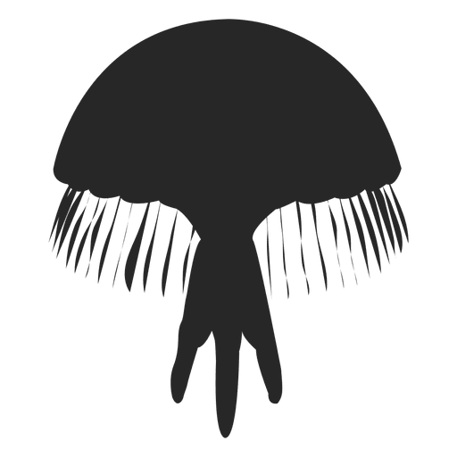 Jellyfish svg transparent background. Icon silhouette png vector