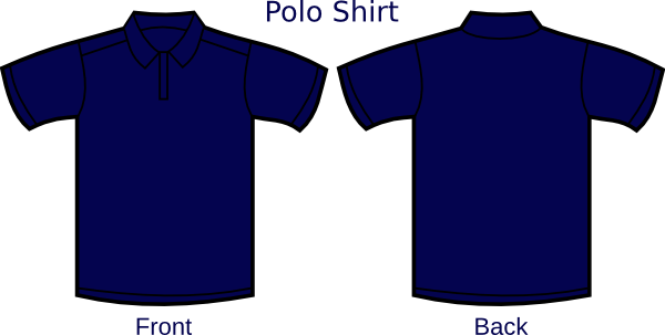Jersey clipart layout. Navy blue polo shirt