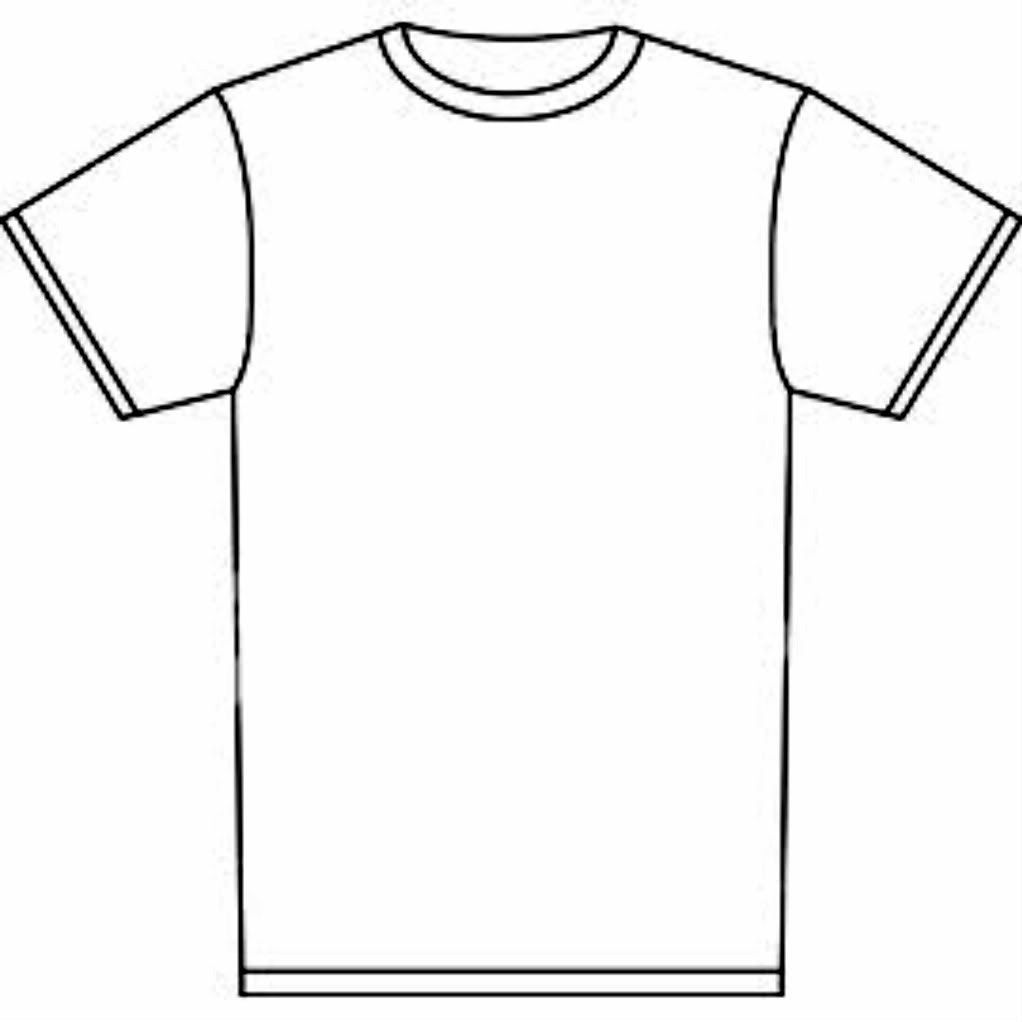 Shirt clipart shirt line. T drawing outline at