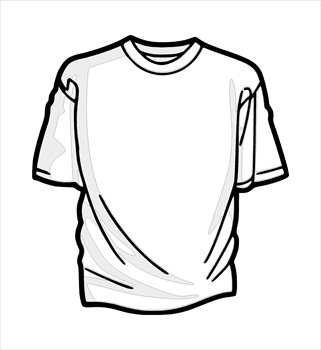 Jersey clipart sketch. T shirt outline drawing
