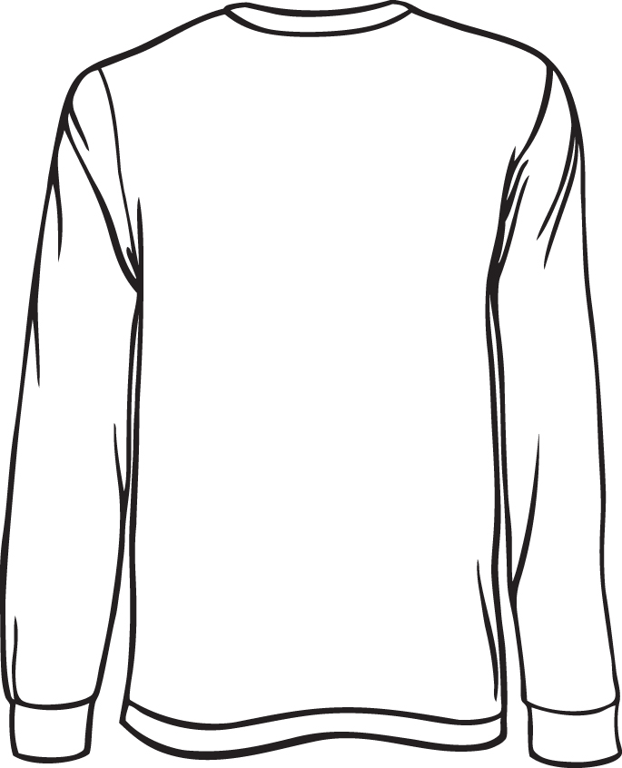 Jersey clipart sketch. Shirt drawing template at