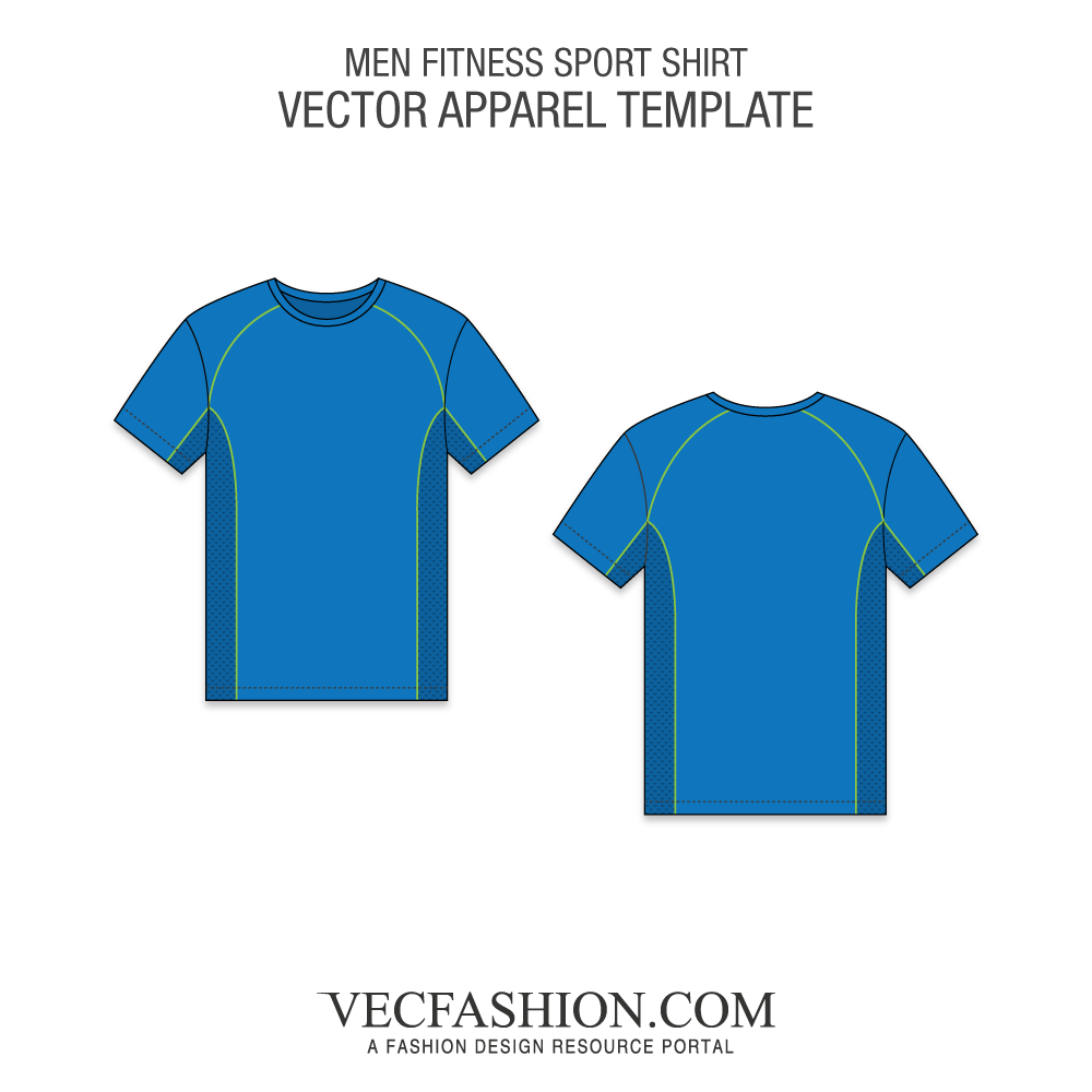 Jersey vector. Fitness sport shirt template
