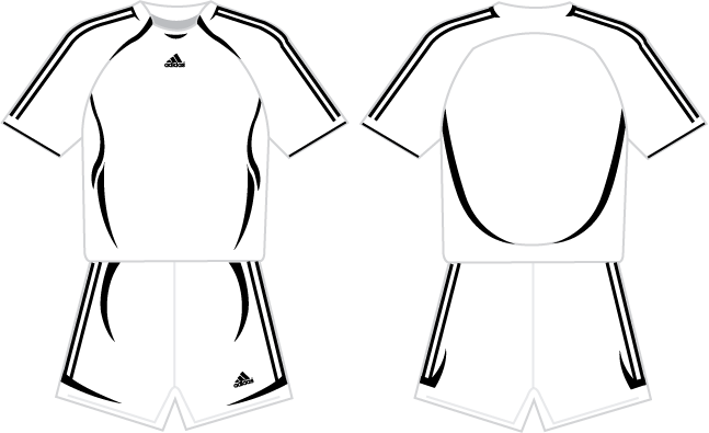 Jersey vector adidas. The great soccer template