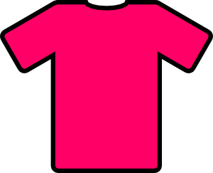 Jersey vector animated. Pink t shirt clip