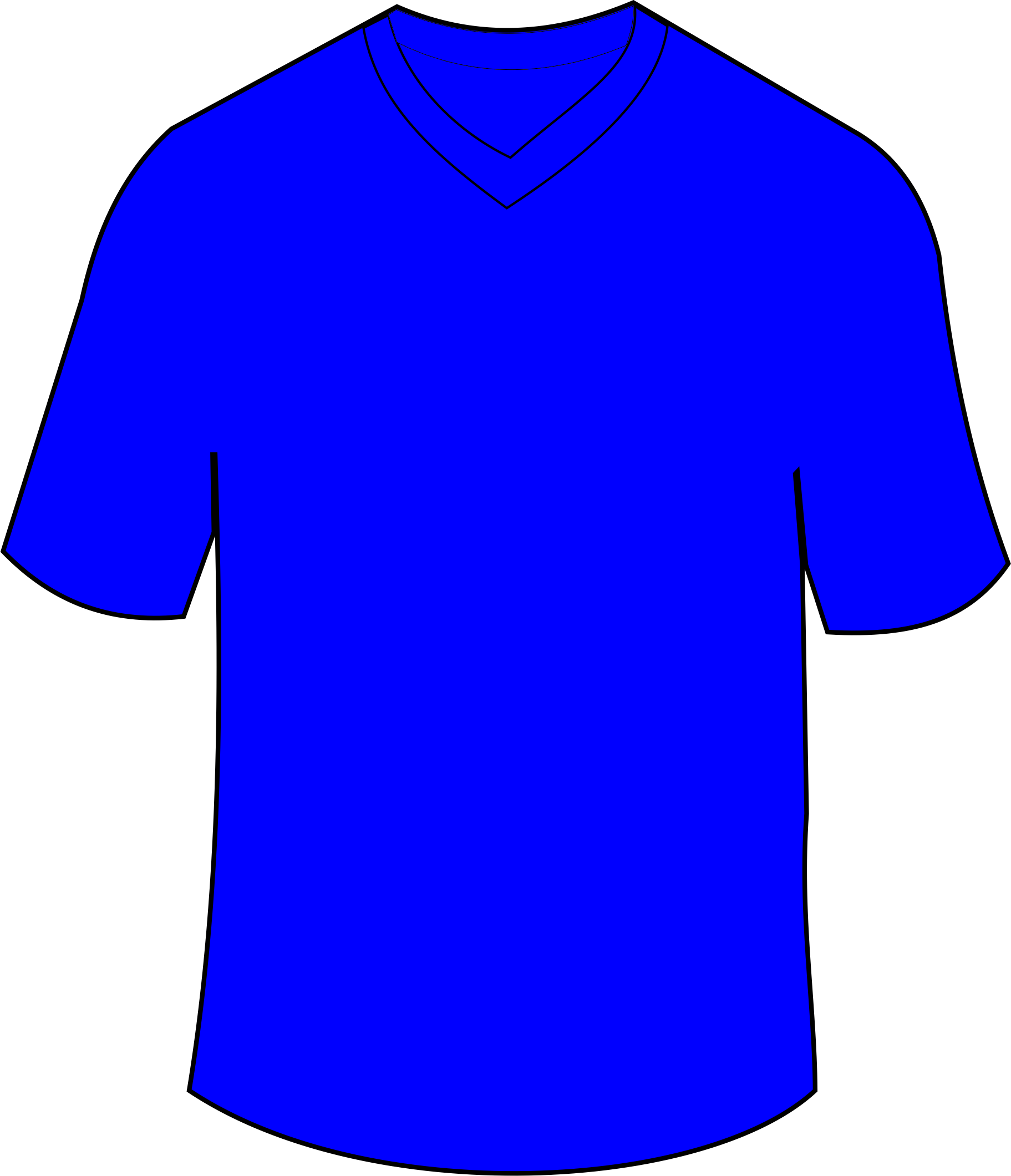 Jersey vector animated. T shirt blue clothing