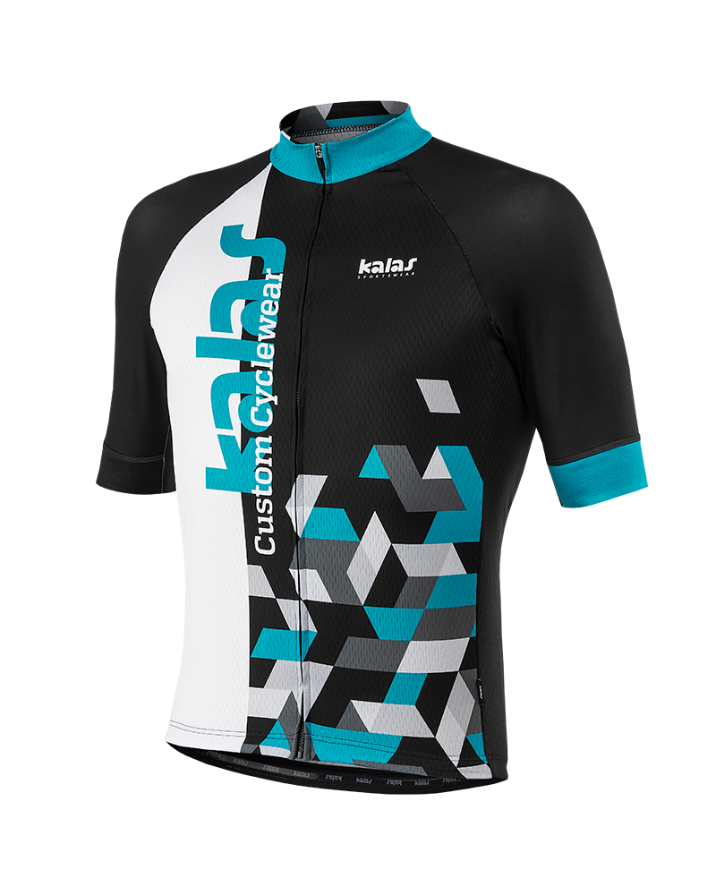 Jersey vector bicycle. Men cycling short sleeve