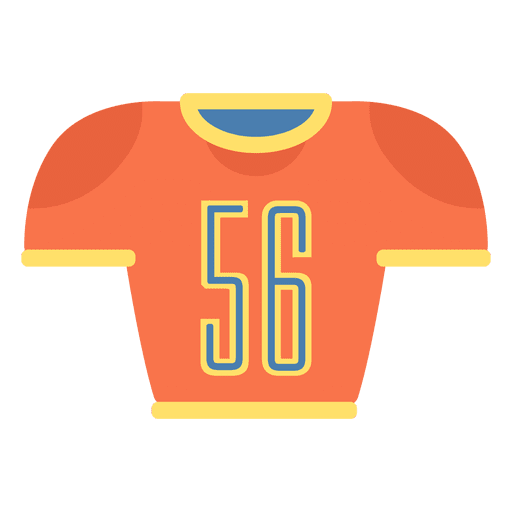Jersey vector football. American icon transparent png