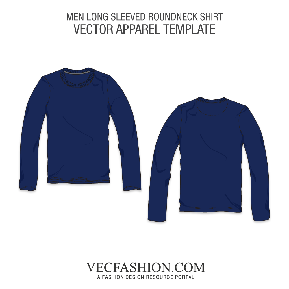 Vector hoodie crew neck sweater. Long sleeved round shirt