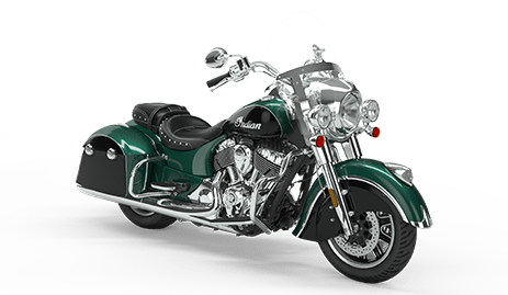 Drawing motorcycle side view. Indian springfield