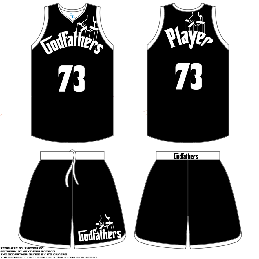 Jersey vector transparent. Godfathers basketball uniform by