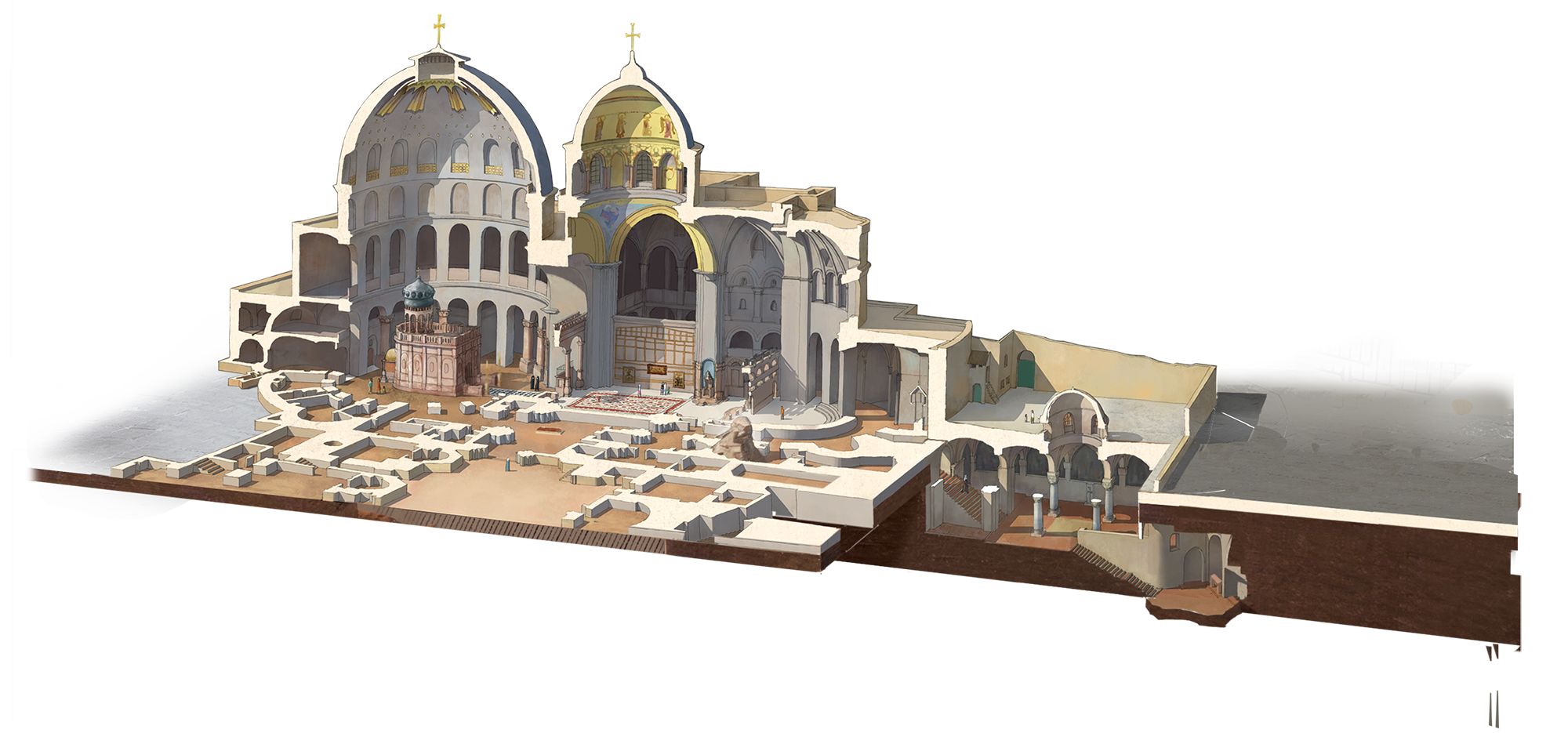 Jerusalem drawing architecture byzantine. See how jesus burial