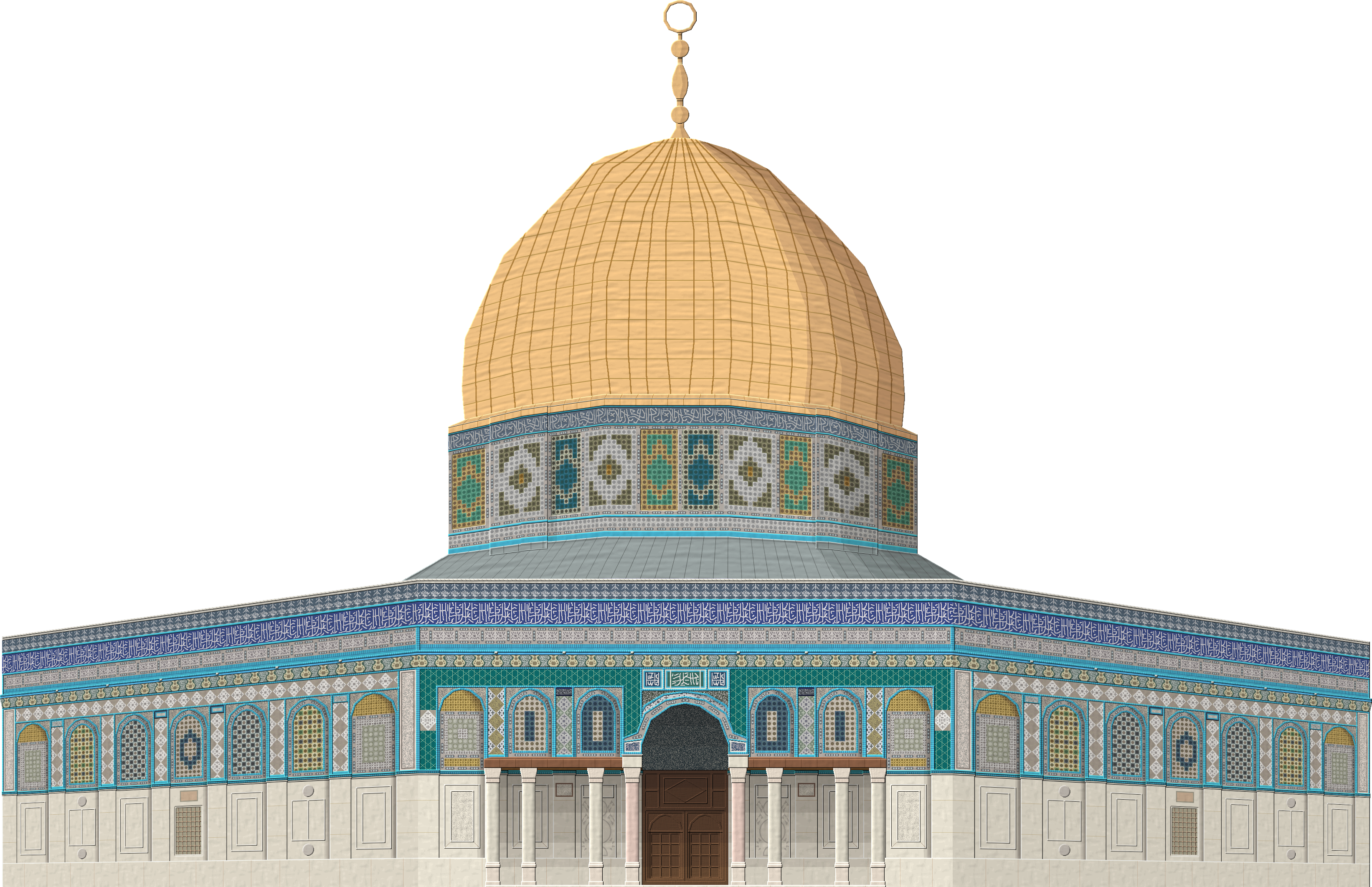 Jerusalem drawing architecture ottoman empire. Dome of the rock
