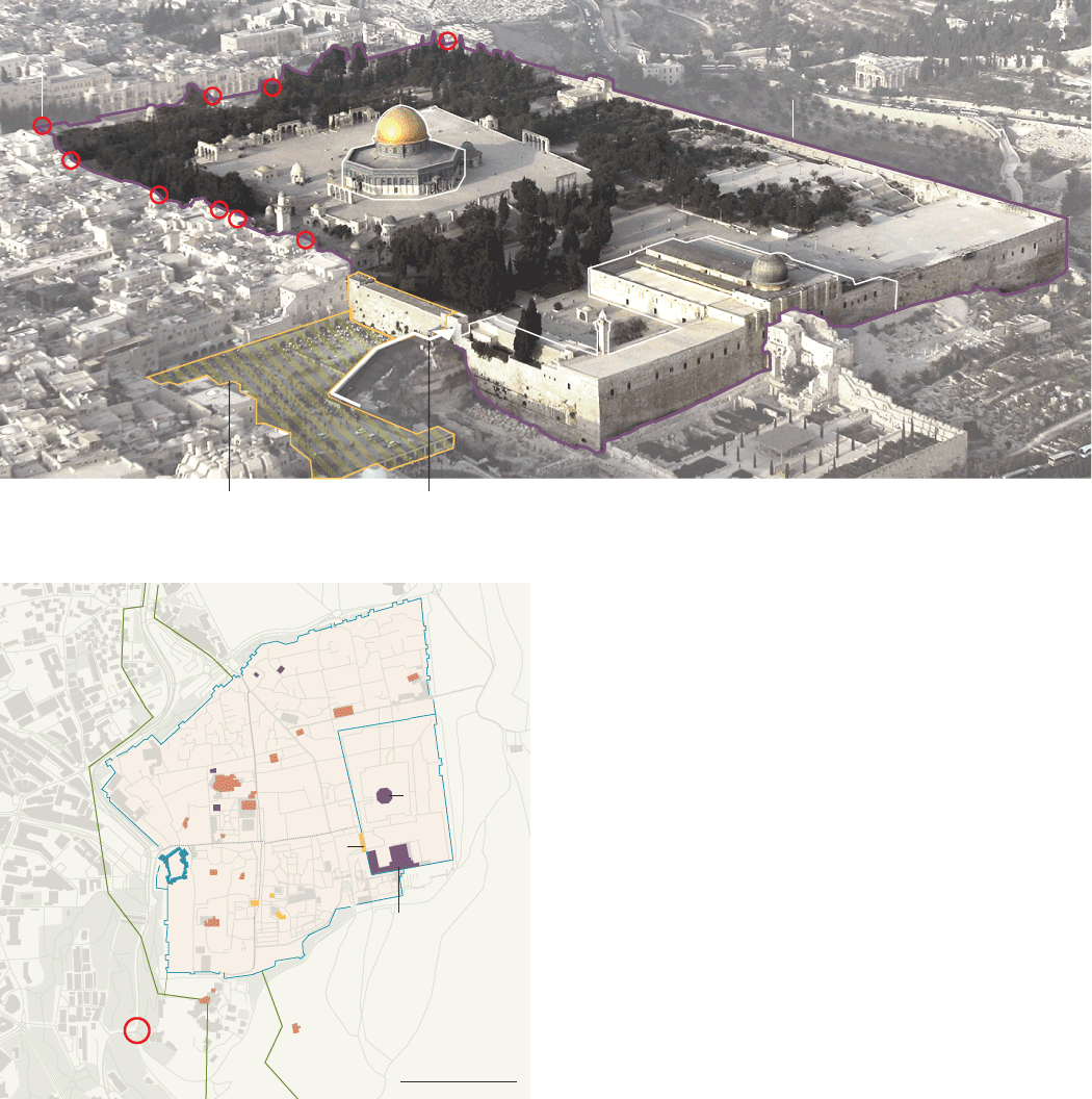 Jerusalem drawing architecture ottoman empire. The area that was