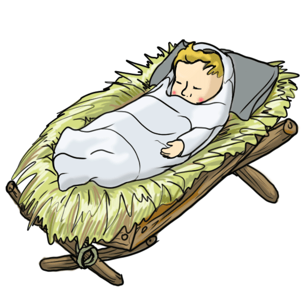 Crib drawing animated. Pictures of baby jesus