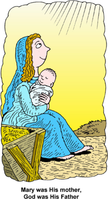 Jesus clipart reading. Image mary and was